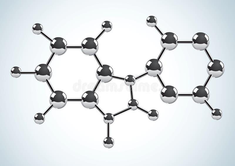 bestående formelmolekylar för kemikalie vektor illustrationer
