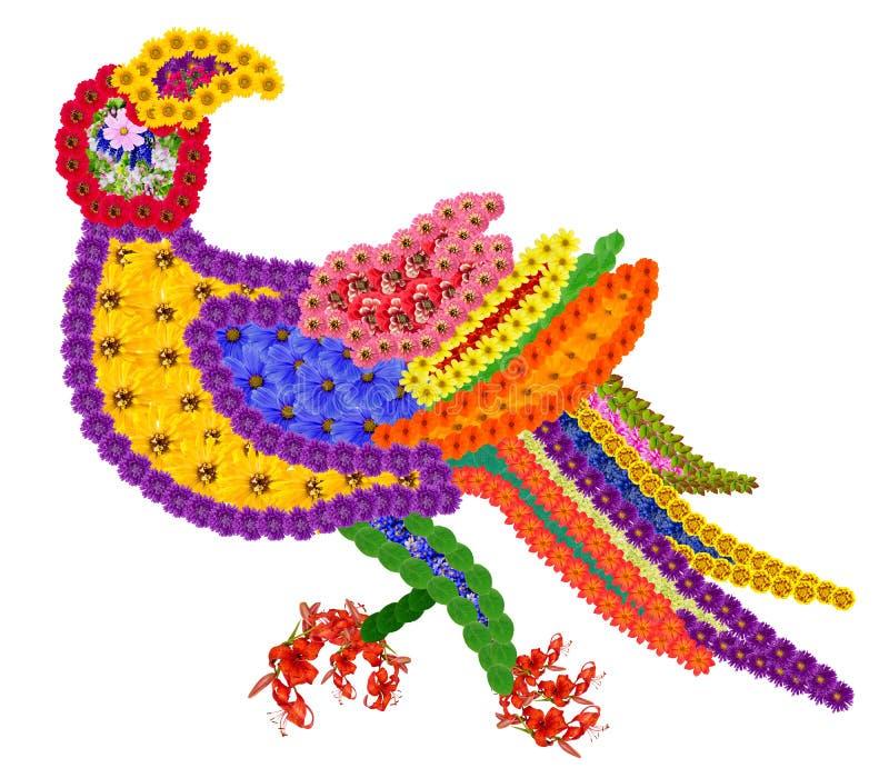 Beståndsdel av den persiska filten en papegoja royaltyfria foton