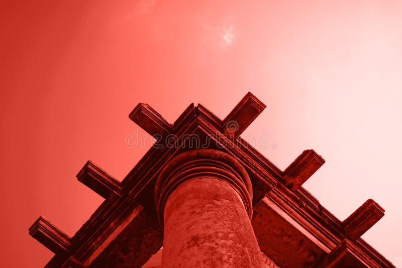 Beståndsdel av taket av forntida byggnad fotografering för bildbyråer