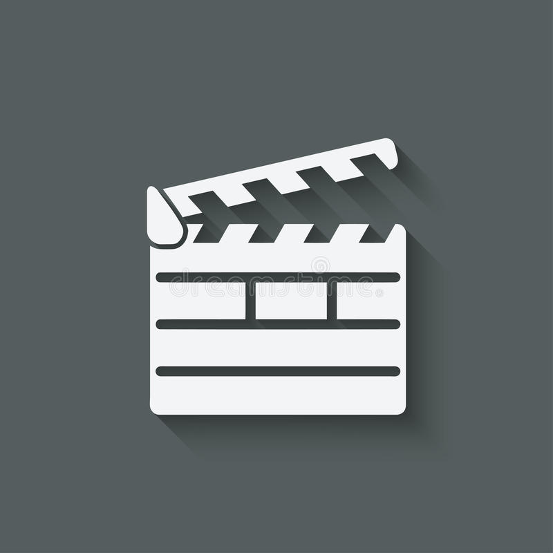 Beståndsdel för design för Clapperbräde royaltyfri illustrationer