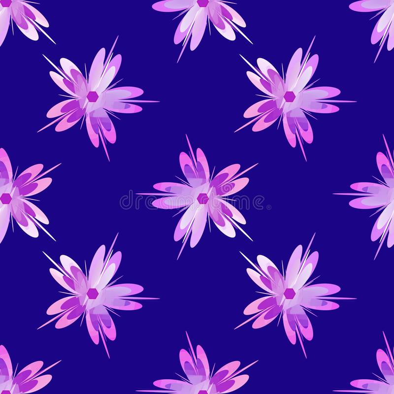 Beståndsdel för design för modell för Sakura blomma sömlös stock illustrationer