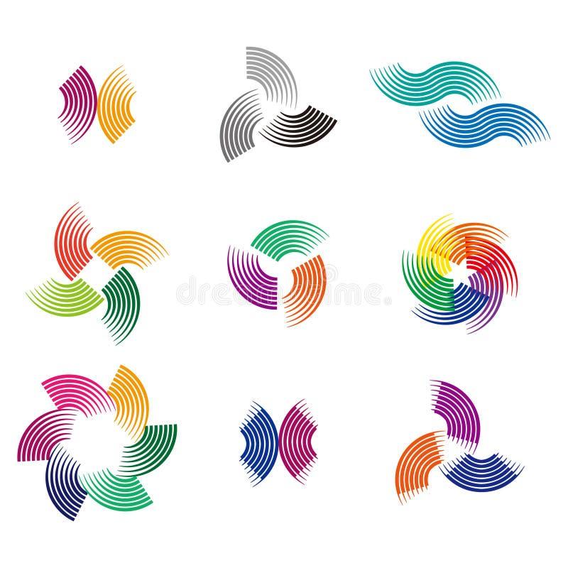 Beståndsdel för designvåglogo vektor illustrationer