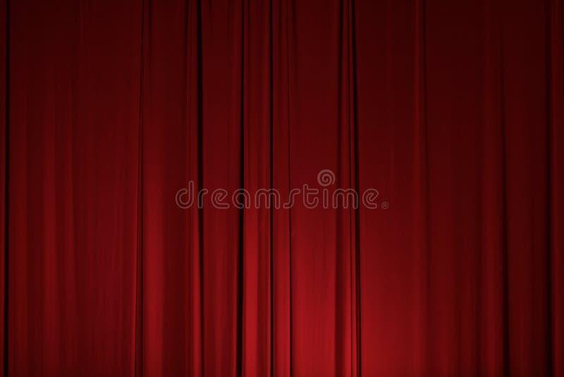Beståndsdel för gardin för etappteaterförhänge arkivbild