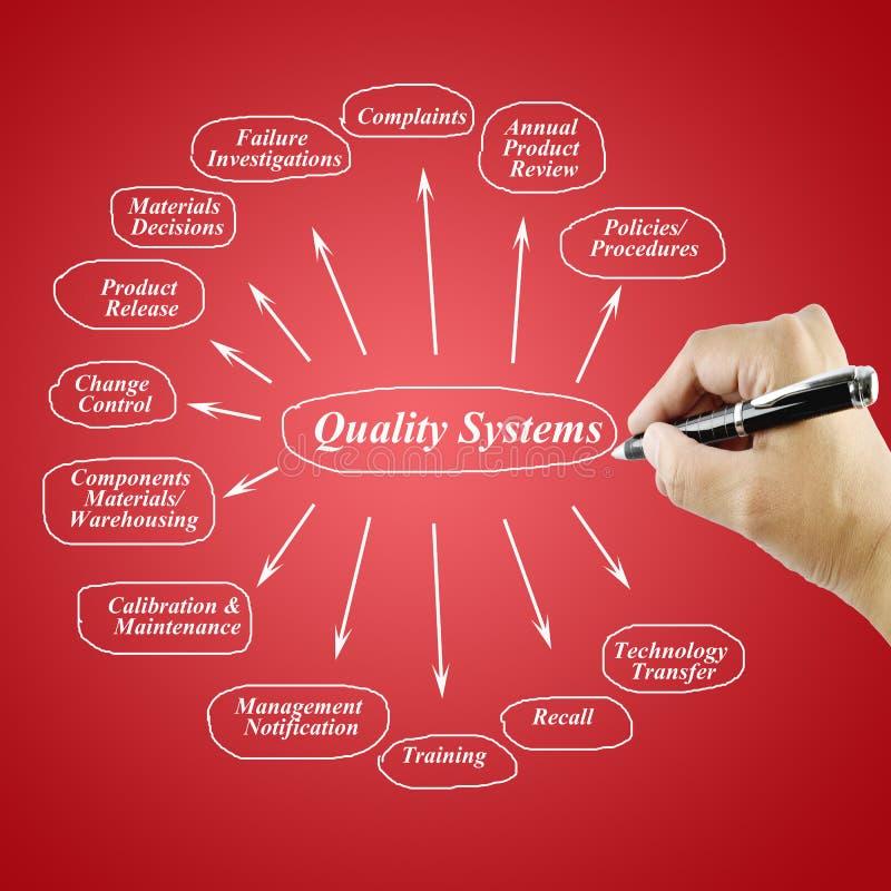 Beståndsdel för kvinnahandhandstil av det kvalitets- systemet för bruk i tillverkning och affärsidé royaltyfri fotografi