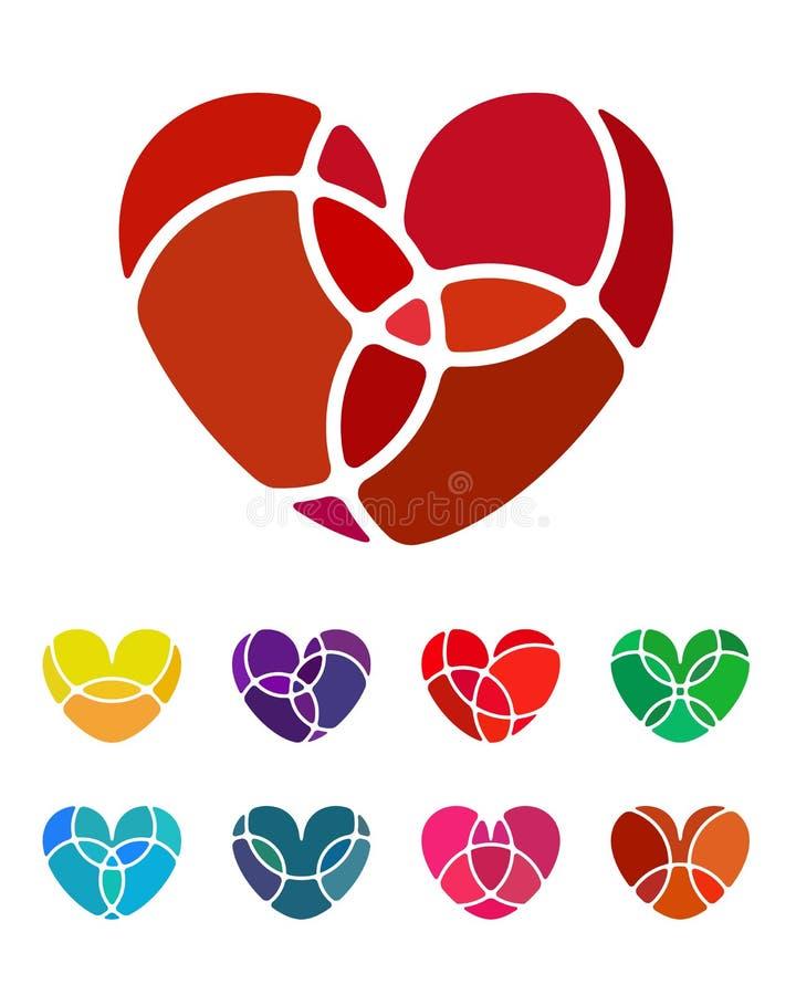 Beståndsdel för logo för vektor för designförälskelsehjärta stock illustrationer