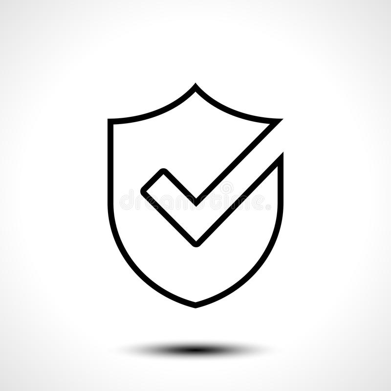 Beståndsdel för mall för design för symbol för logo för sköldkontrollfläck royaltyfri illustrationer