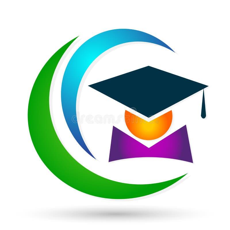 Beståndsdel för symbol för ungkarl för studenter för avläggande av examen för akademisk för hög utbildning för kandidater för stu royaltyfri illustrationer
