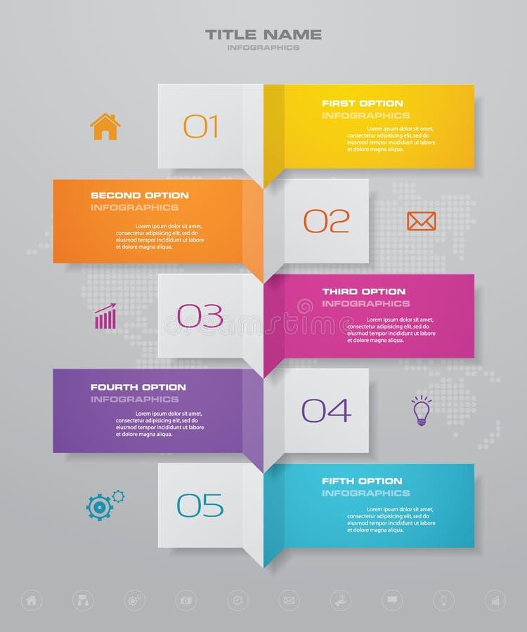 beståndsdel för Timeline för 5 moment infographic 10 eps royaltyfri illustrationer