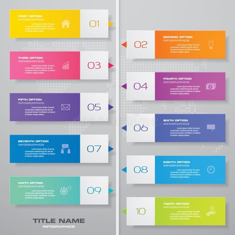 beståndsdel för Timeline för 10 moment infographic 10 infographic moment vektor illustrationer