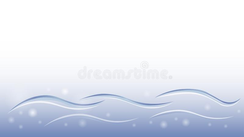 Beståndsdel för vektor för vätskemjuk design för tapet för vattenblåttrörelse abstrakt stock illustrationer