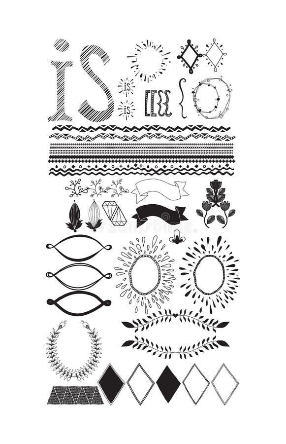 Beståndsdelar av designen royaltyfri illustrationer