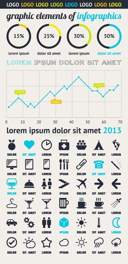 Beståndsdelar Av Infographics Med Knäppas Och Menyer Royaltyfria Foton