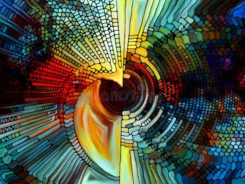 Beståndsdelar av målad glas stock illustrationer