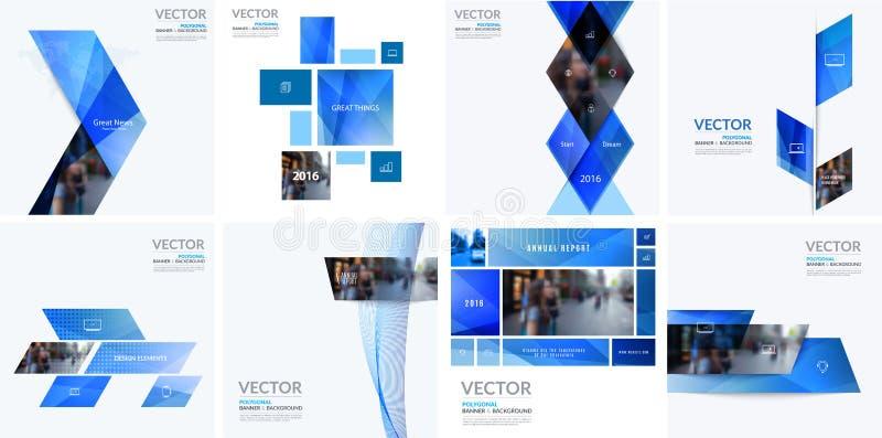 Beståndsdelar för affärsvektordesign för grafisk orientering Modern abstr vektor illustrationer