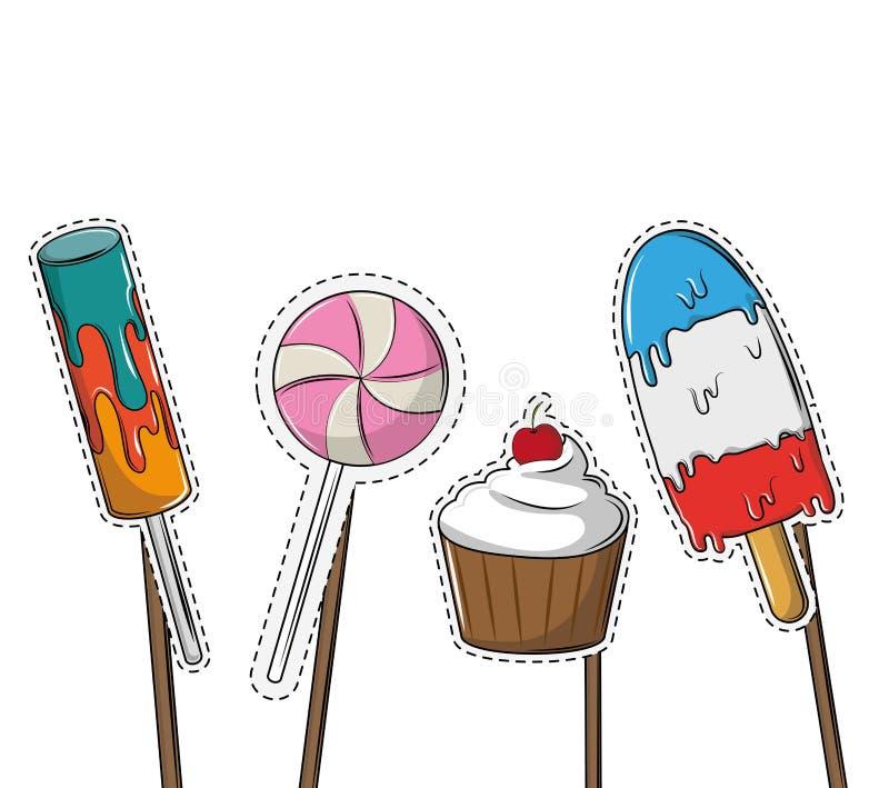 Beståndsdelar för båsstöttaparti royaltyfri illustrationer