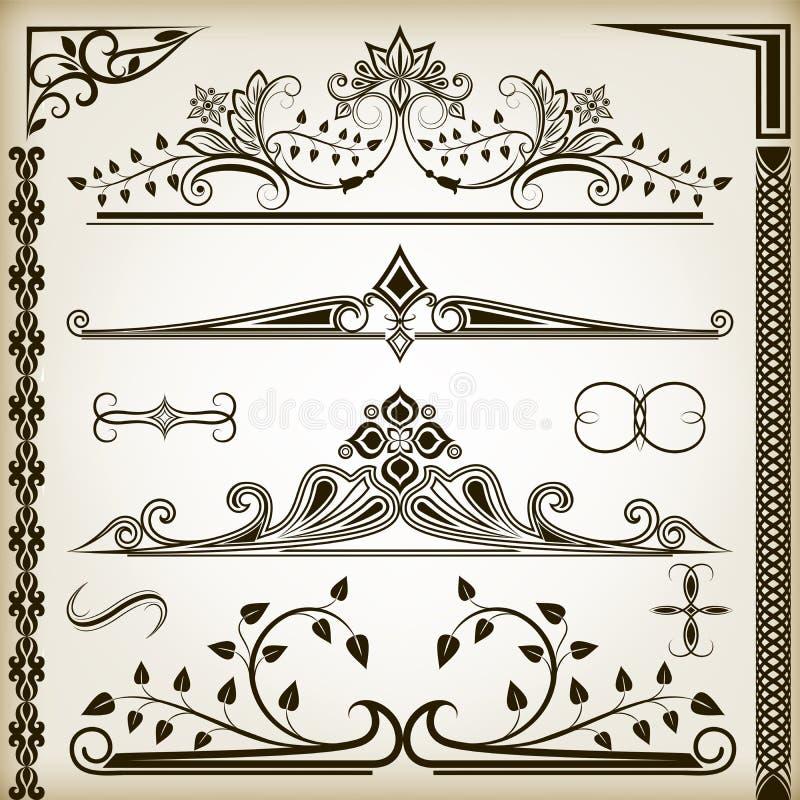 Beståndsdelar för blom- design stock illustrationer