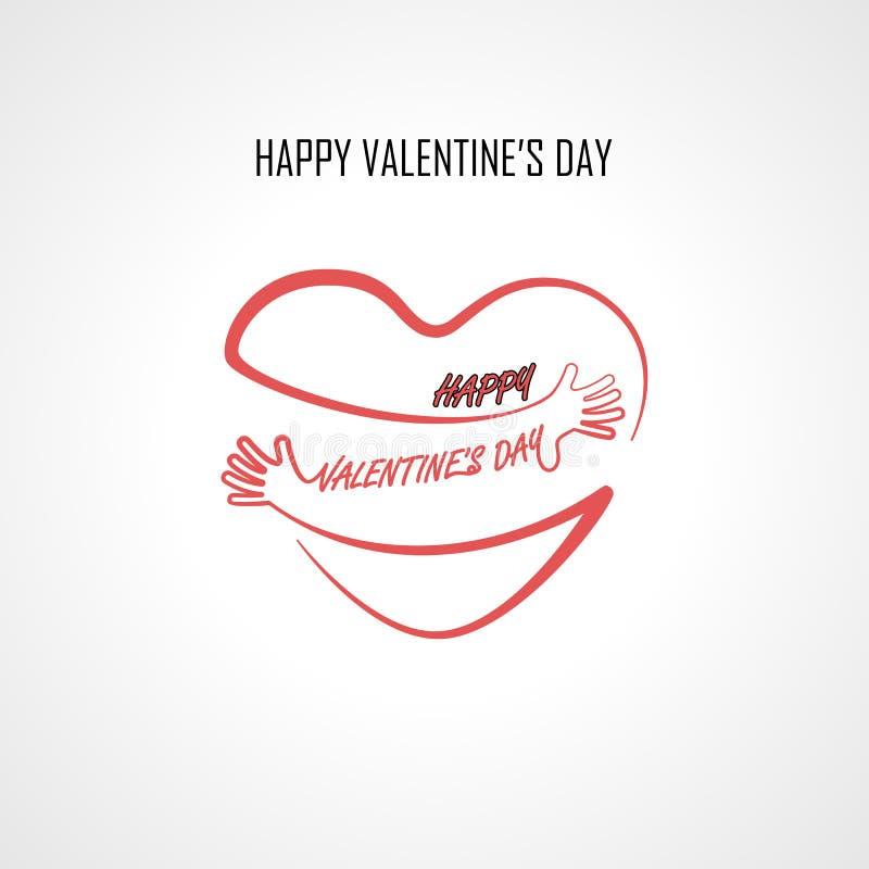 Beståndsdelar för design för lycklig dag för valentin` s hör typografisk och rött stock illustrationer