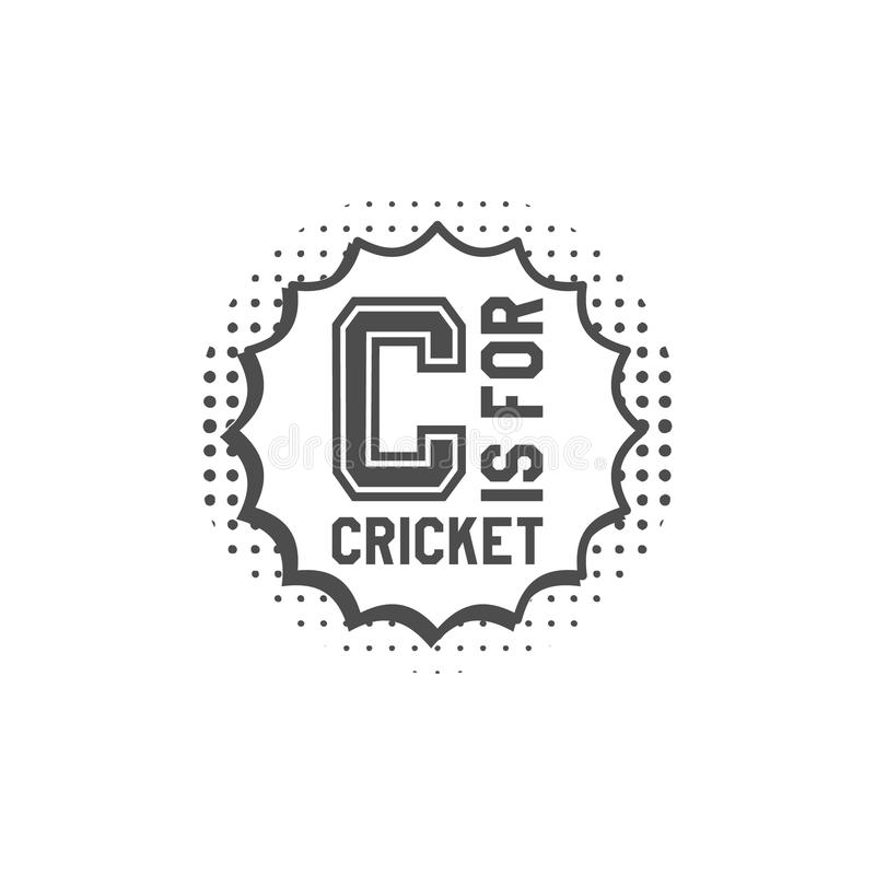 Beståndsdelar för för syrsamonogramemblem och design logo i stil för popkonst klubbaemblem Sportklistermärke Prucken monokrom royaltyfri illustrationer