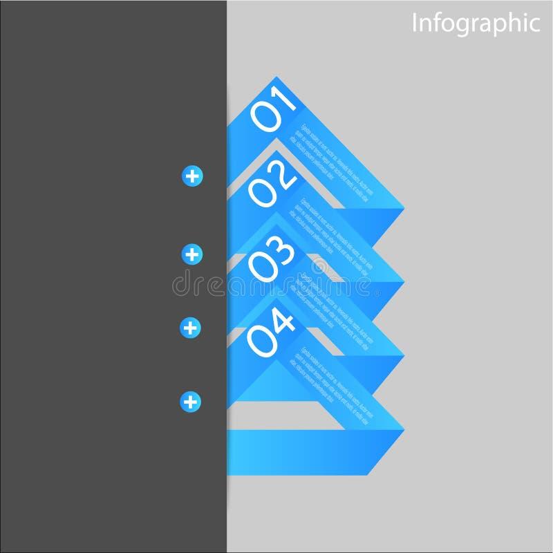 Beståndsdelar För Infographic Banerdesign Royaltyfri Fotografi