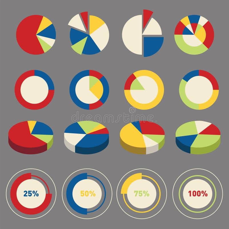 Beståndsdelar för Infographic cirkeldiagram royaltyfri illustrationer