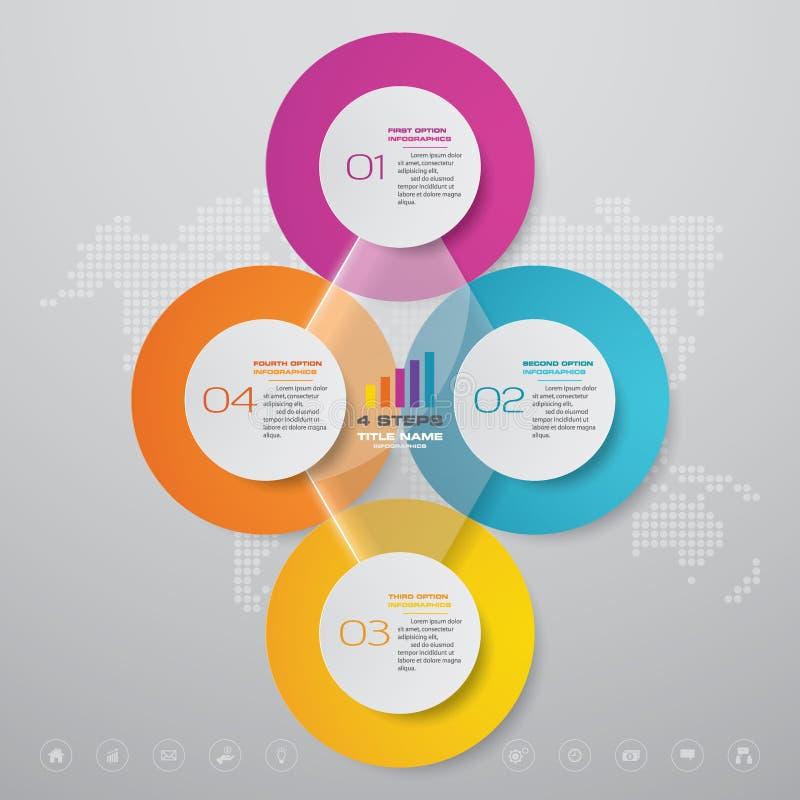 4 beståndsdelar för infographics för diagram för halv cirkulering för moment för datapresentation royaltyfri fotografi