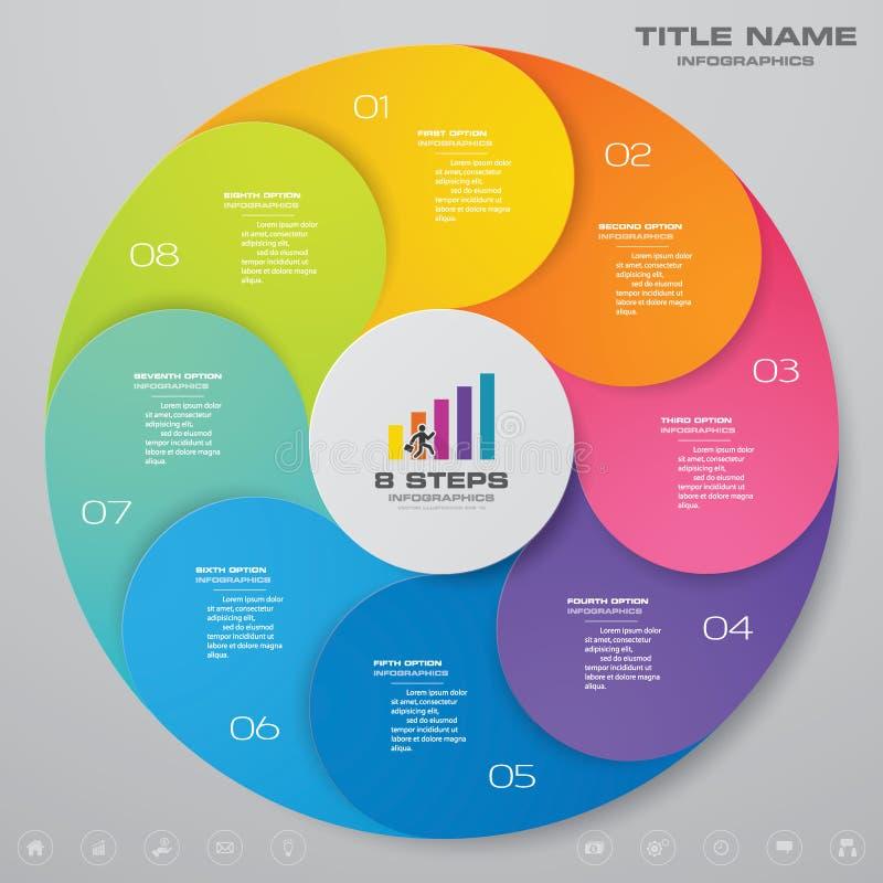 8 beståndsdelar för infographics för momentcirkuleringsdiagram royaltyfri illustrationer