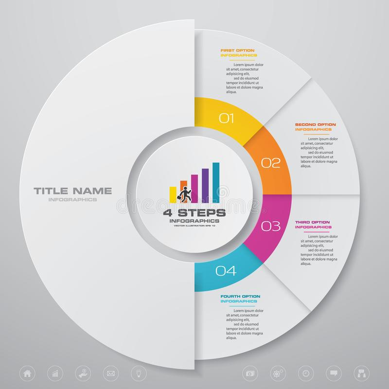 4 beståndsdelar för infographics för momentcirkuleringsdiagram royaltyfri illustrationer