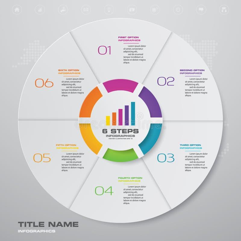 6 beståndsdelar för infographics för momentcirkuleringsdiagram royaltyfri illustrationer