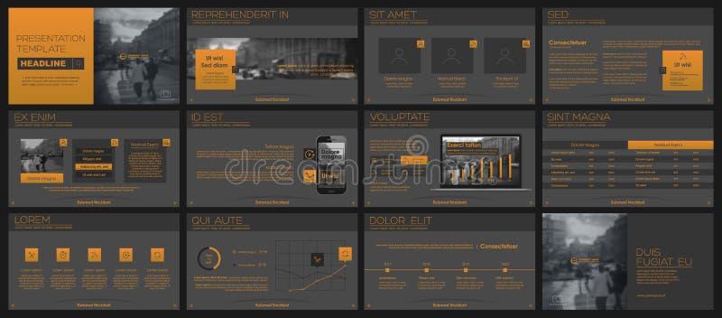 Beståndsdelar för infographics- och presentationsmallar stock illustrationer