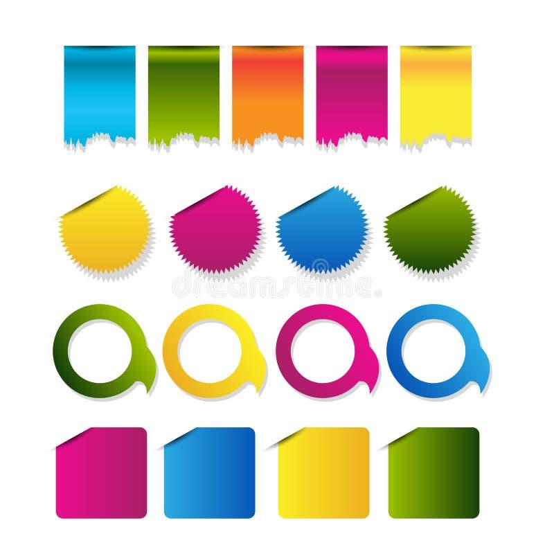 Beståndsdelar för navigering för mall för rengöringsdukdesign: Navigeringknappar med prydnader stock illustrationer
