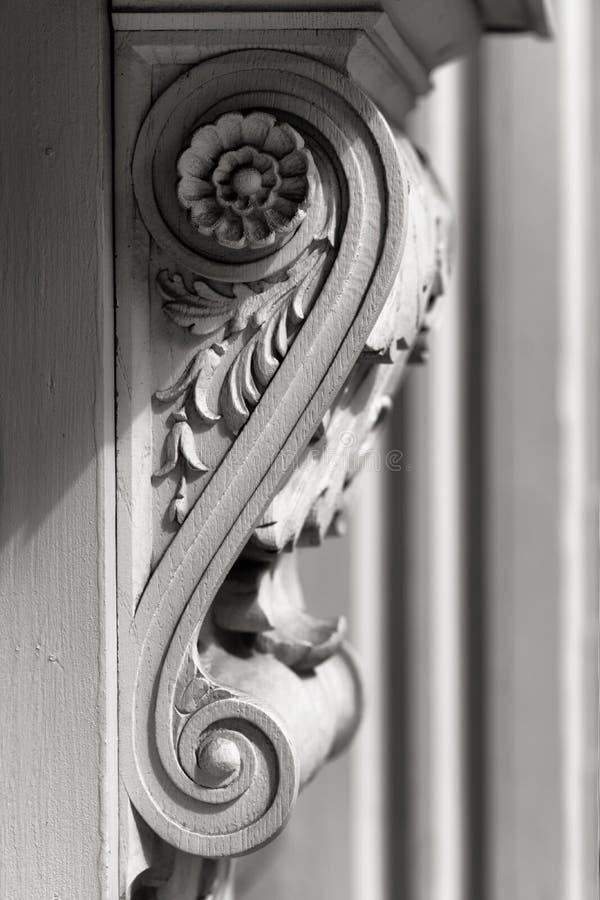 Beståndsdelen på fasaden av huset arkivfoto