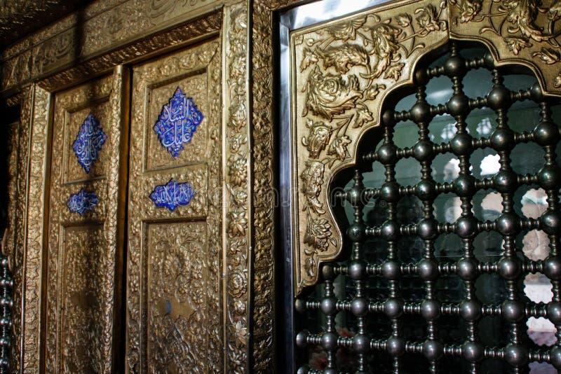 Beståndsdelvägg inom moskén royaltyfri fotografi