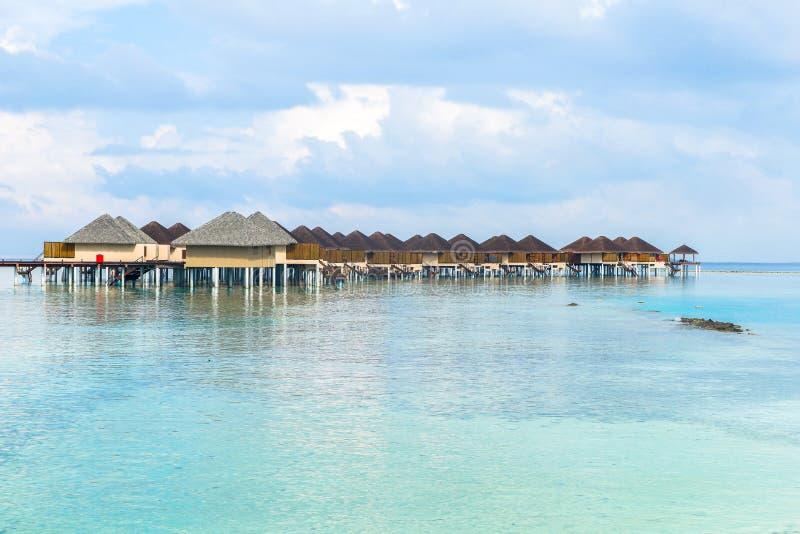 Best all-inclusive Maldives water-villa resorts in Maldives stock photography