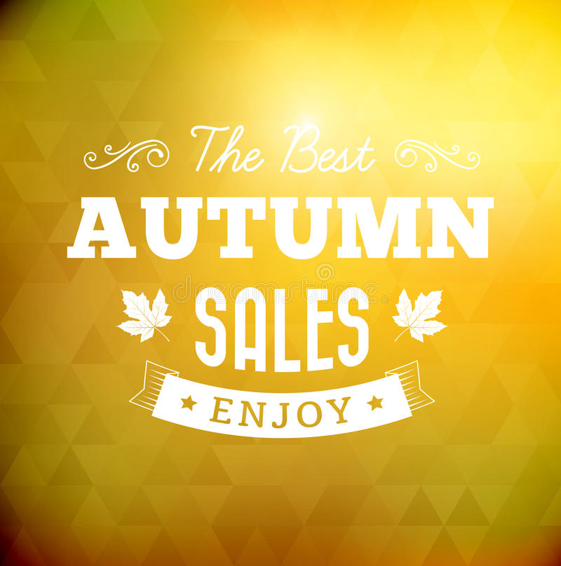 The best autumn sales vintage typography poster royalty free illustration