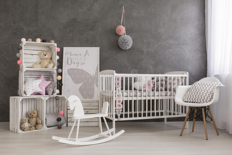 Best baby girl room idea stock photo