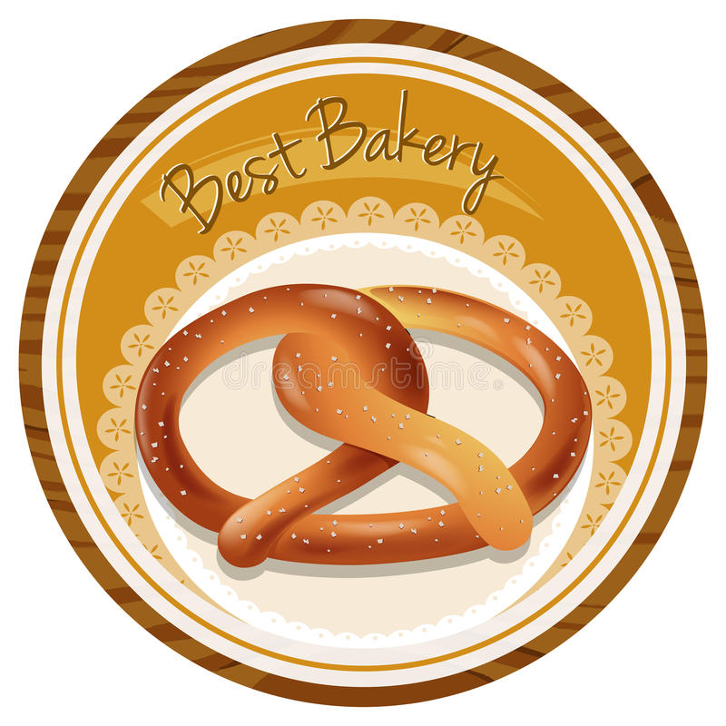 A best bakery label. Illustration of a best bakery label on a white background royalty free illustration