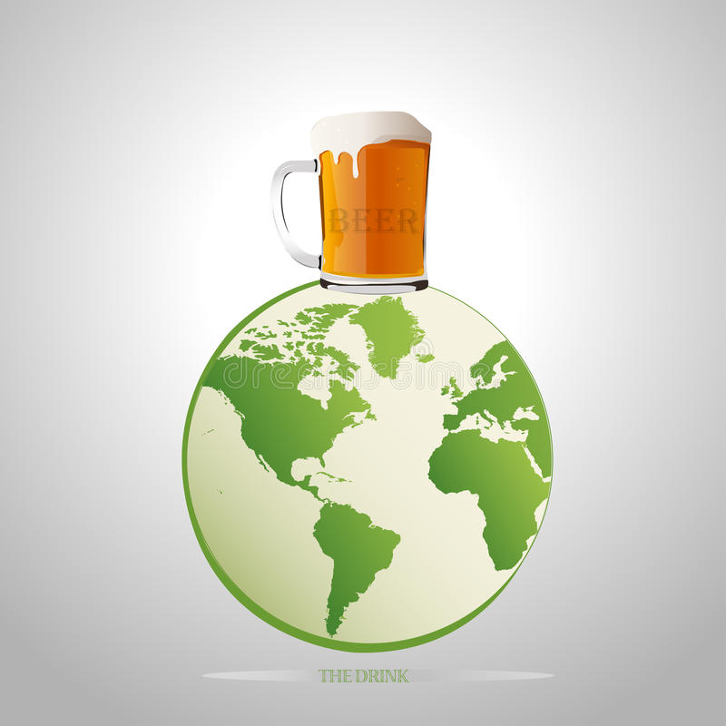 The best beer on earth. Vector illustration stock illustration