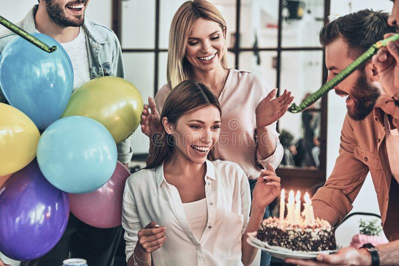Best birthday party! royalty free stock photography