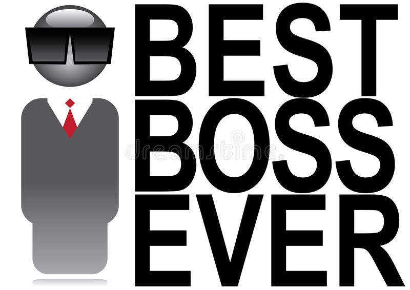 Download Best boss ever stock vector. Image of best, work, concept - 17122598