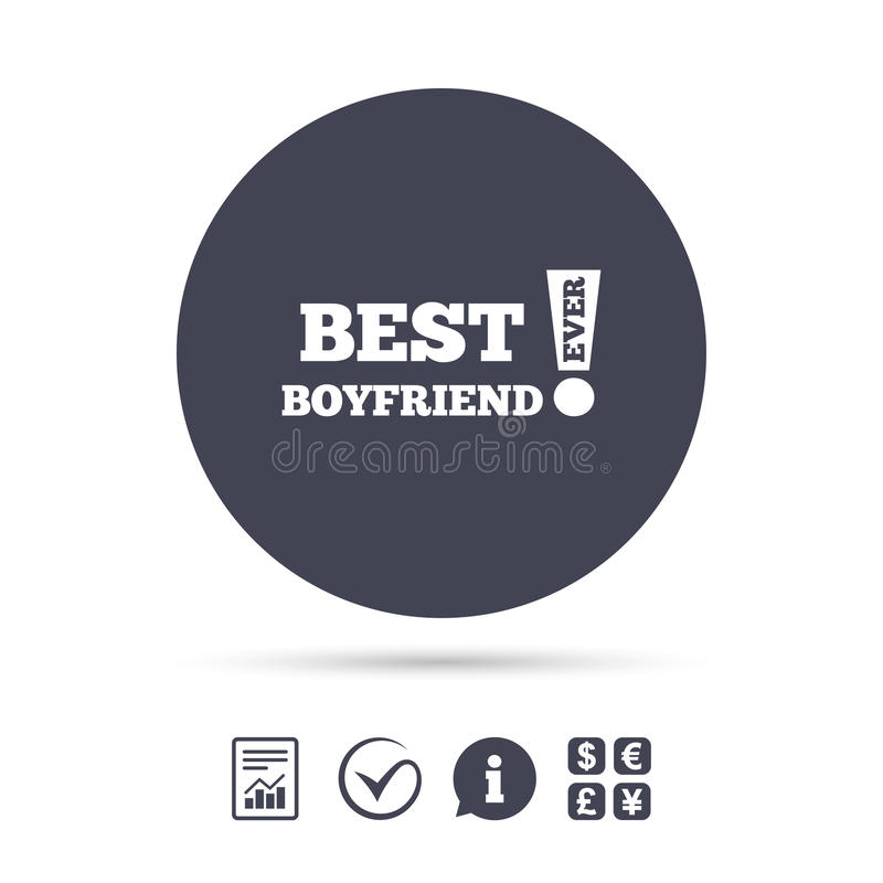 Best boyfriend ever sign icon. Award symbol. vector illustration
