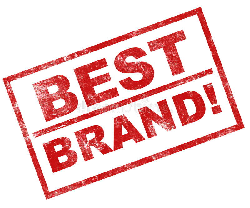 Best brand. Brand and branding concept, best brand stamp in red over white background, rubber and grunge effect royalty free illustration