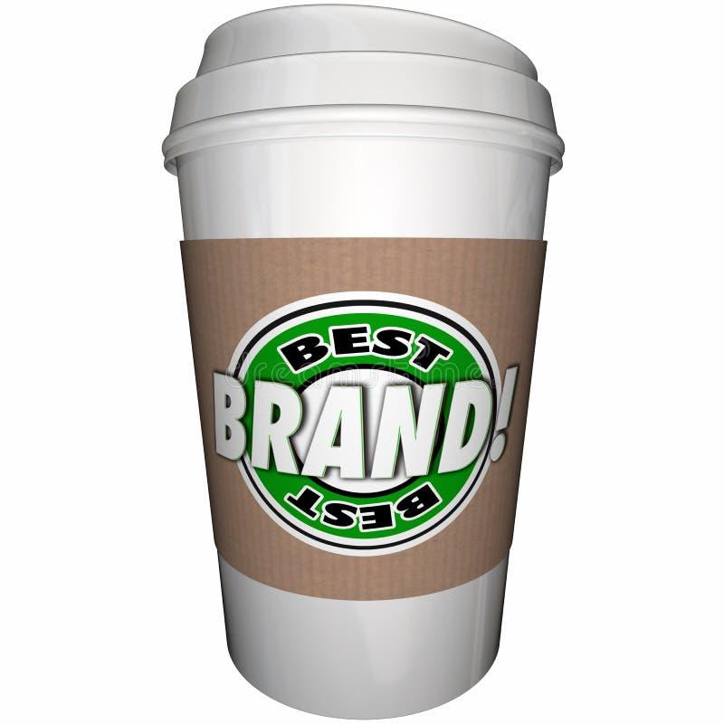 Best Brand Coffee Cup Top Leading Company ilustración del vector