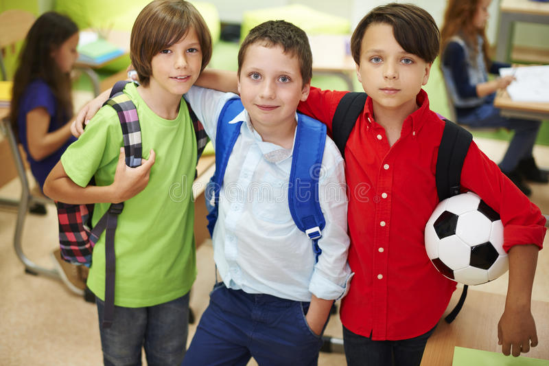 Best buddies in the classroom stock image