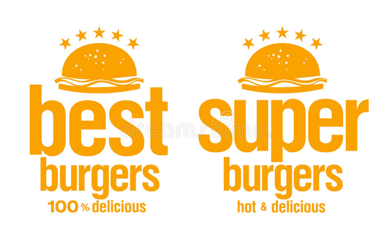 Download Best burgers signs. stock vector. Illustration of burger - 22752641