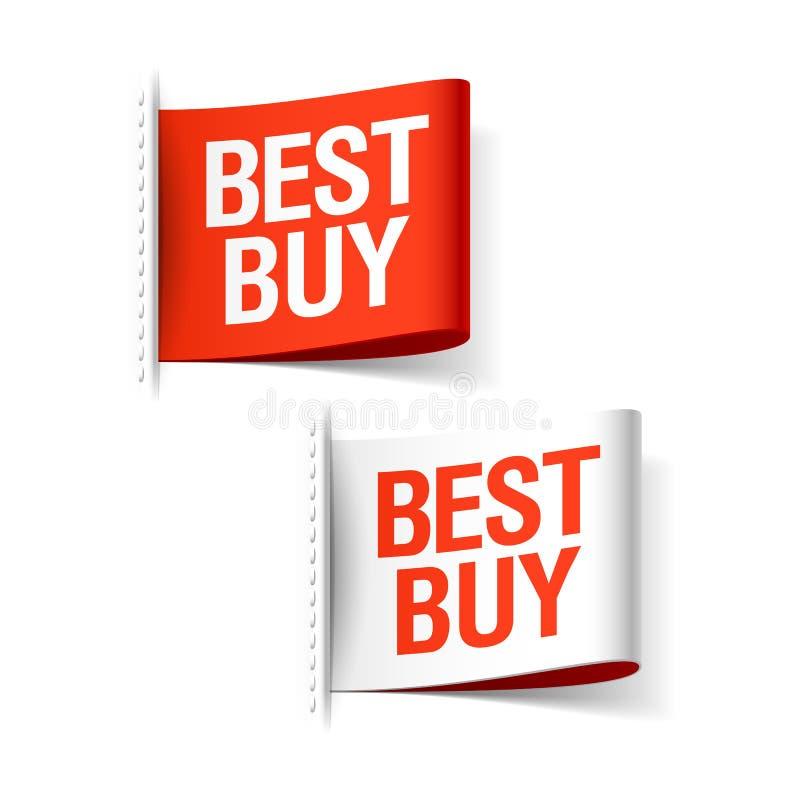 Best Buy-Etiketten stock illustratie