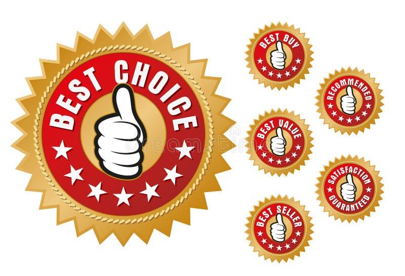 Best Buy Labels. Vector illustration of Best Buy labels stock illustration