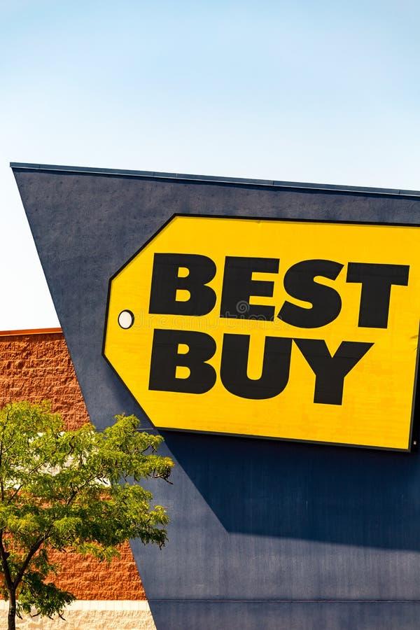 Best Buy stockent le logo de signe photographie stock libre de droits