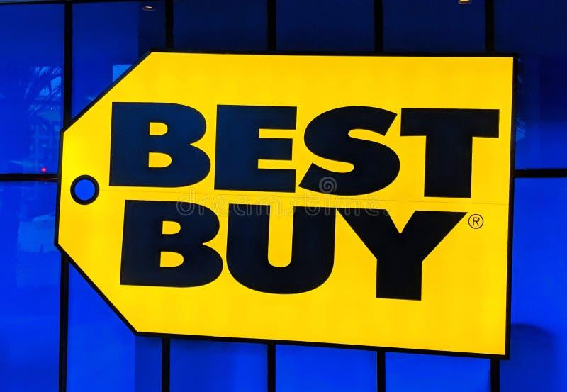 Best Buy undertecknar Mexico arkivbild