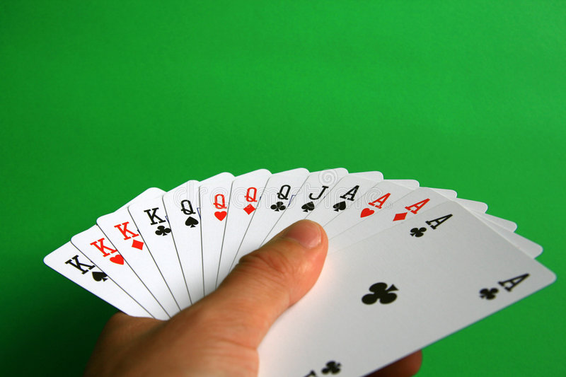 The best of cards in bridge royalty free stock photo