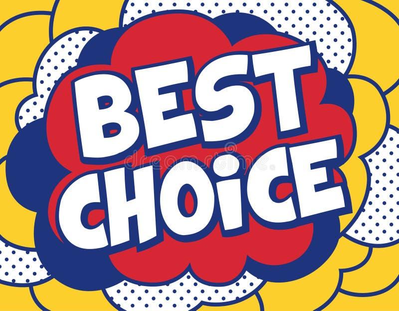 Best Choice Background in Pop Art Style. Pop Art Poster Vector Illustration